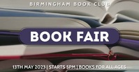Book Event Video Ad Facebook Shared Image template
