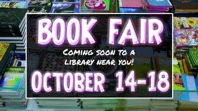 Book Fair Digital Display template