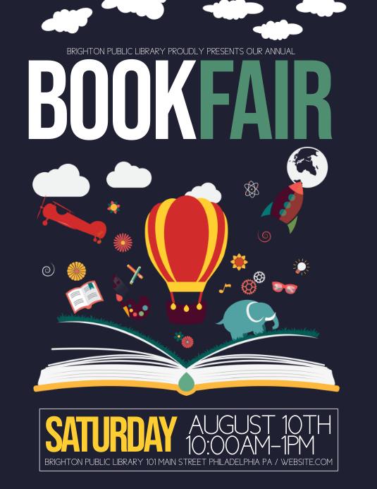 Book Fair Poster Design with sign up sheet on Behance |Kitten Book Fair Posters