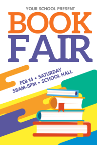 Book Fair Event Poster Template