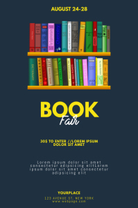 Book Fair Flyer Template Poster