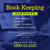 Book keeping service flyer template Instagram Post