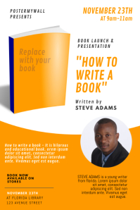Book Launch and presentation event flyer Cartaz template