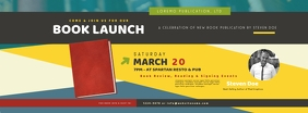 Book Launch Facebook Cover Photo template