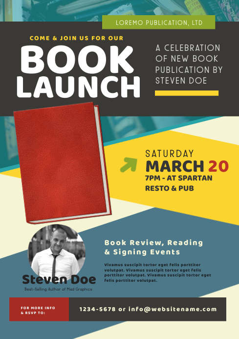 Book Launch Flyer A4 template