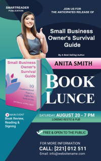 book launch flyer template Capa do Kindle