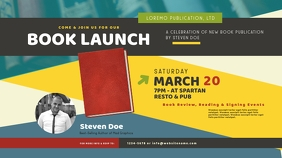 Book Launch Twitter Post template