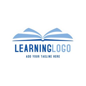 book learning blue logo
