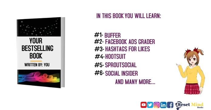 book mockup launch Facebook Shared Image template