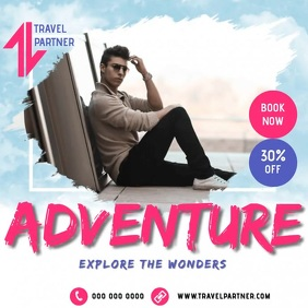 BOOK NOW TRAVEL AD TEMPLATE Logotipo