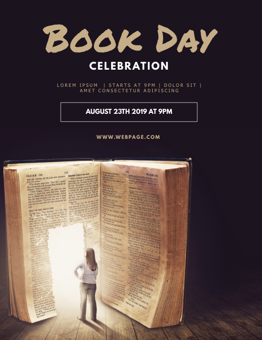 book reading event flyer template