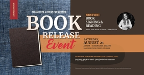 Book Release Facebook Shared Image template