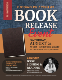 Book Release Flyer template