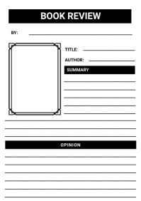 Book review Worksheet template