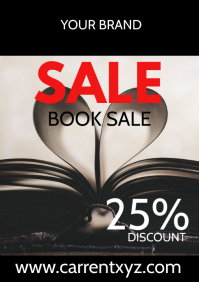 Book Sale Flyer Online Shop Store Poster Ad