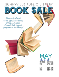 book sale flyer template