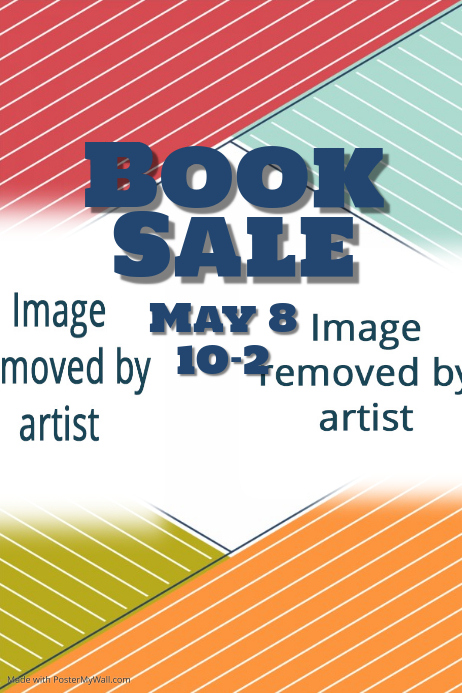 Book Sale Library Event flyer small business retail poster