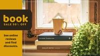Book Sale Templates Header Blog