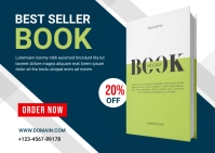 Book Selling Banner Post Postcard template