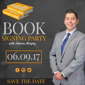 Book cover design templates postermywall for Book signing poster template