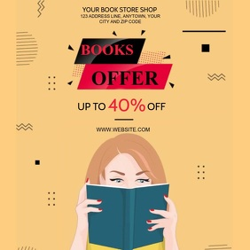 BOOK STORE OFFER VIDEO FLYER AD Template