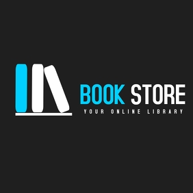 Book store or book app icon logo