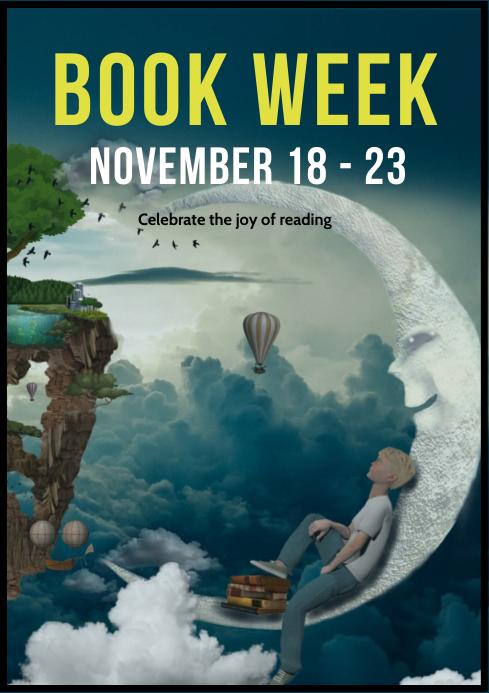 Book week poster A4 template