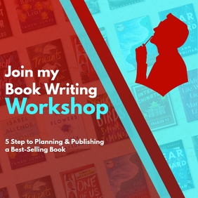 Book Writing Workshop Template Album Cover