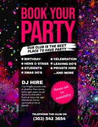 Book Your Party Flyer