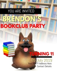 BOOKCLUB BOOK CLUB PARTY FLYER TEMPLATE