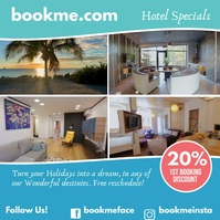 Booking Hotel Promotion Instagram Sale Video template