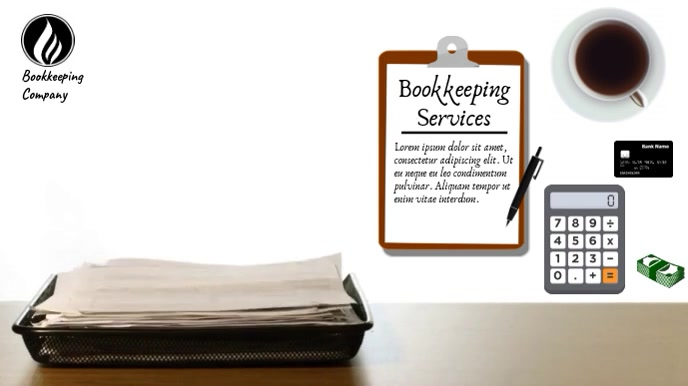 BOOKKEEPING SERVICES VIDEO AD Digitale Vertoning (16:9) template