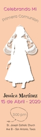 bookmark/first communion/church/iglesia Halv side Legal template