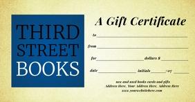 Books Gift Certificate Template Изображение, которым поделились на Facebook