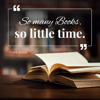 Books quote for World Book Day Instagram Post template