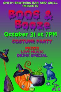 Boos & Booze Halloween Event Plakkaat template