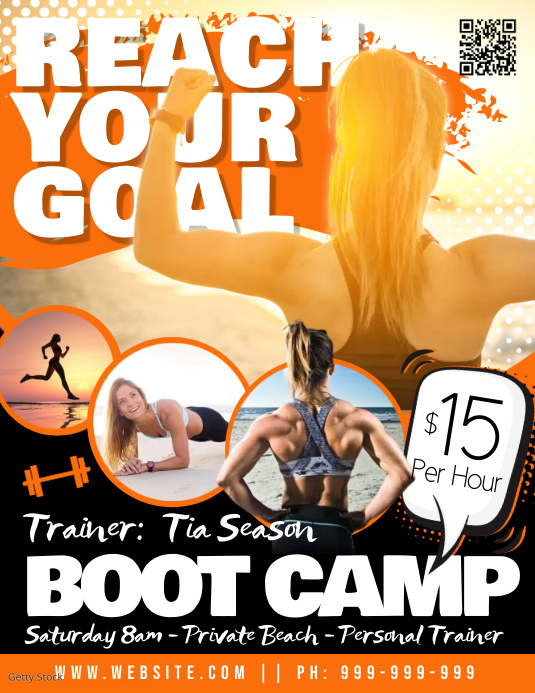 Boot Camp Poster Flyer (US Letter) template