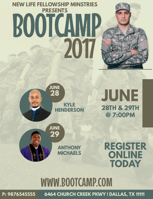 Bootcamp Template Postermywall