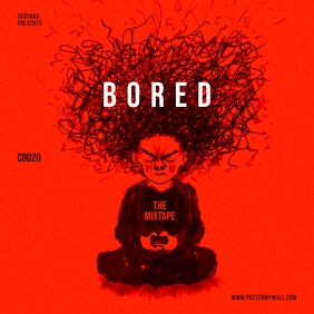 Bored Meditation Red Mixtape CD Cover