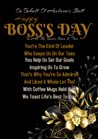 Boss's Day A2 template