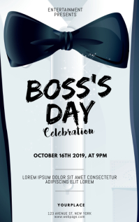 Boss's Day Flyer Design Template