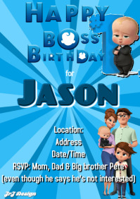 BOSS BABY 1ST BIRTHDAY TEMPLATE