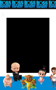 Boss Baby Birthday invite Sampul Buku template