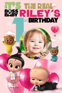 Boss Baby Birthday Poster