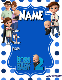 BOSS BABY BOY BIRTHDAY TEMPLATE