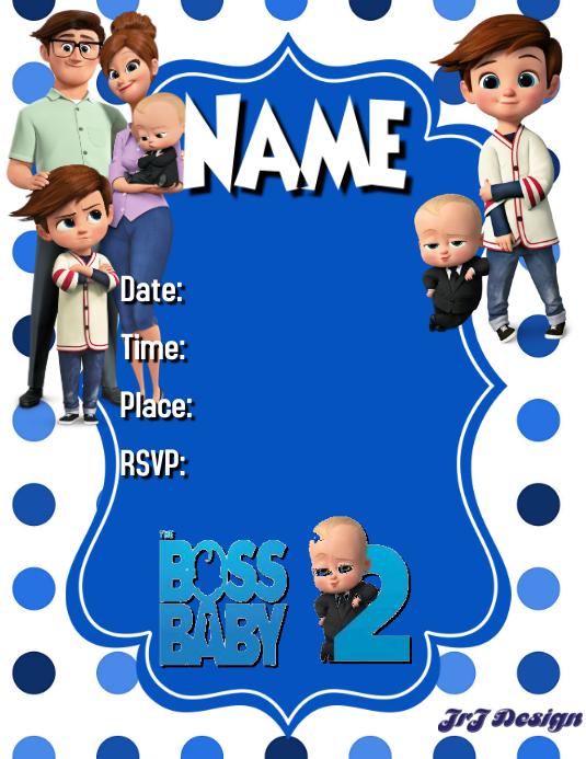 BOSS BABY BOY BIRTHDAY TEMPLATE