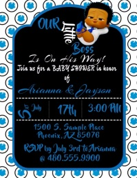 Boss Baby Invitation Flyer (US-Letter) template