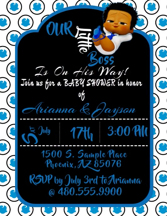 Boss Baby Invitation Flyer (US Letter) template