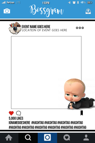 Boss Baby Party Prop Frame