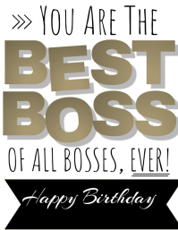 Bosses Birthday Card Template